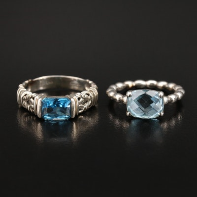Sterling Topaz Rings Featuring Pandora