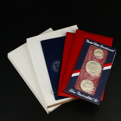 Bicentennial Silver Proof and Uncirculated Coin Sets