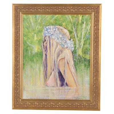 "Anne Buffington Oil Painting ""Ophelia,"" 2018"