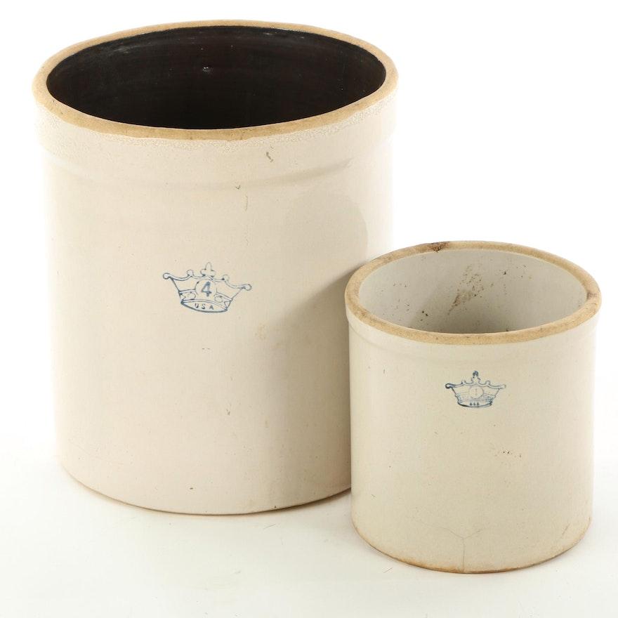 Robinson Ransbottom Salt Glazed Stoneware Crocks