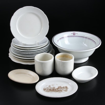 English and American Ironstone and Ceramic Tableware