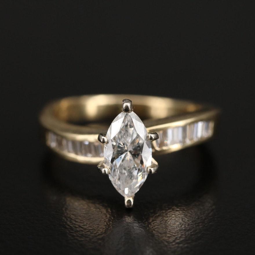 14K 1.34 CTW Diamond Ring