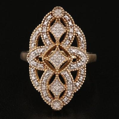 10K Diamond Openwork Ring
