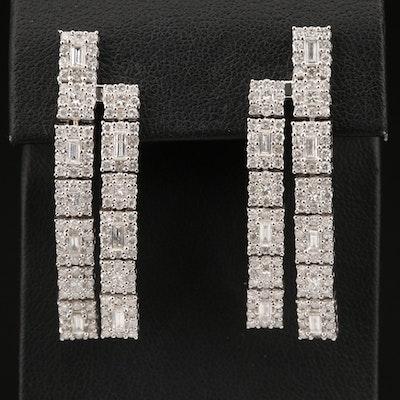 14K 4.25 CTW Diamond Drop Earrings