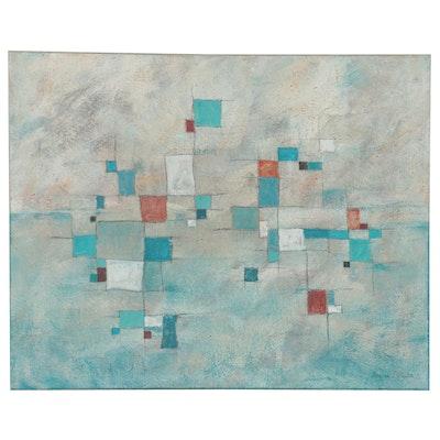 Eugene DeSmith Abstract Geometric Acrylic Painting