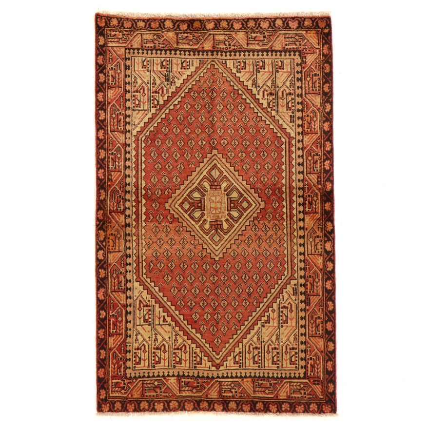3'9 x 6'7 Hand-Knotted Persian Seraband Area Rug
