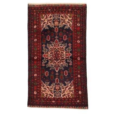 3'6 x 6' Hand-Knotted Persian Birjand Khorasan Rug, 2000s