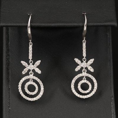 18K 1.00 CTW Diamond Earrings