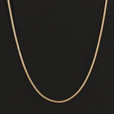 18K Snake Chain Necklace