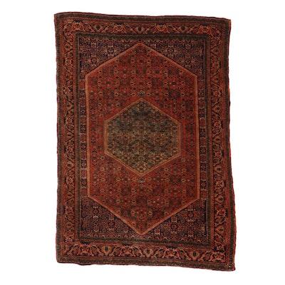 3'10 x 5'4 Hand-Knotted Persian Bijar Rug, 1960s