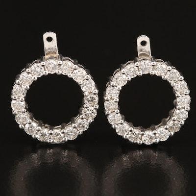 14K 1.52 CTW Diamond Circle Earring Jackets