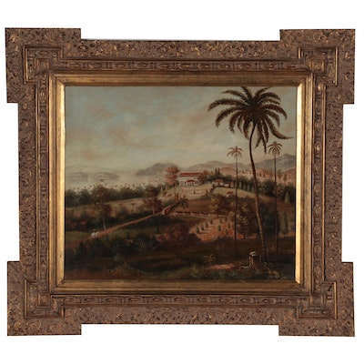 Oil Painting After William Daniell and Colonel Robert Smith of Glugor House