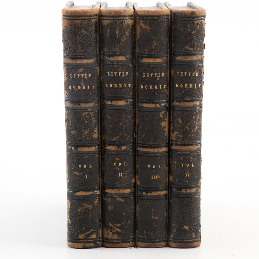 """""""Little Dorrit"""" Copyright Edition Four-Volume Set by Charles Dickens, 1856–1857"""