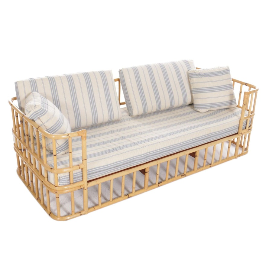 Bamboo Frame Daybed Sofa, Late 20th Century
