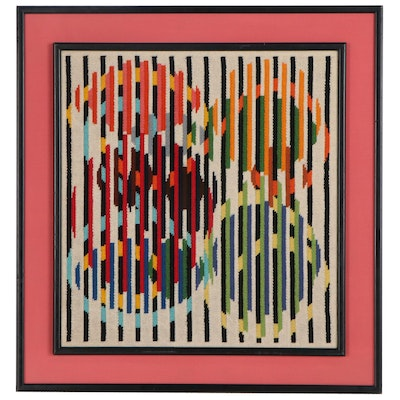 Needlepoint after Yaacov Agam of a Kinetic Composition