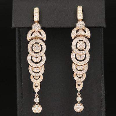 14K 2.45 CTW Diamond Earrings