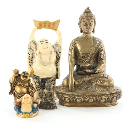 Resin Standing and Seated  Buddha Figurines