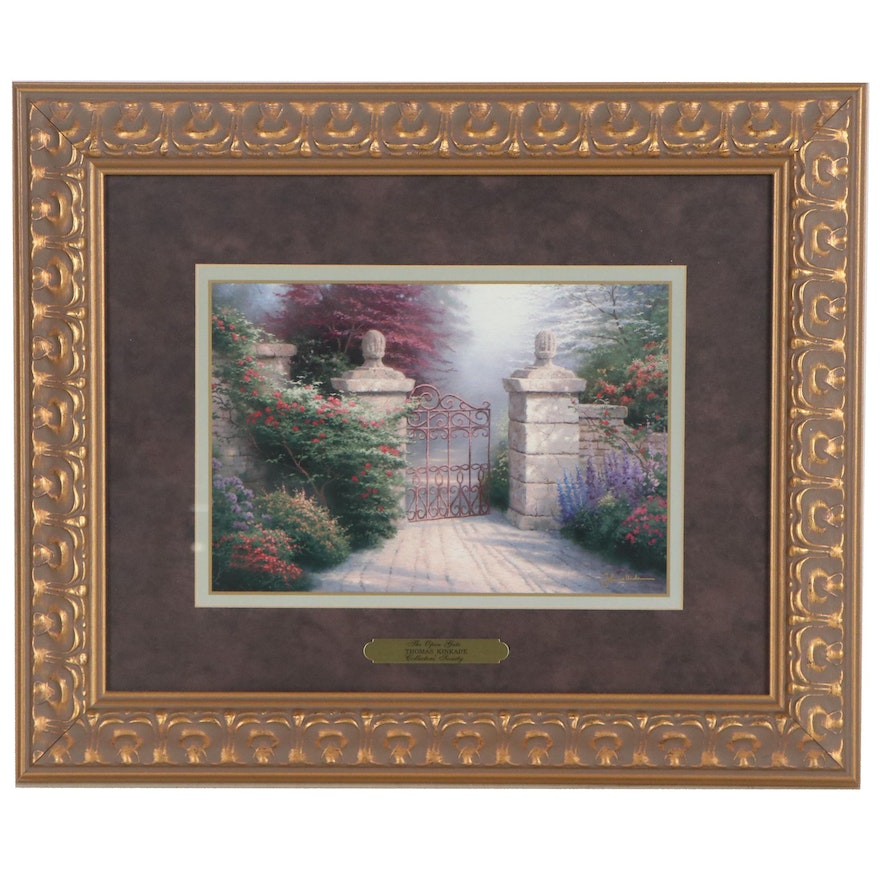 """Offset Lithograph After Thomas Kinkade """"The Open Gate"""""""