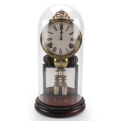 """Ansonia Davies Sole """"Crystal Palace"""" Domed Clock, Late 19th Century"""