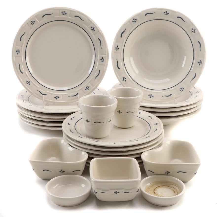"Longaberger ""Woven Traditions"" Ceramic Dinnerware"