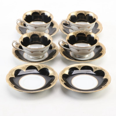 Wako Japanese Porcelain Teacups and Saucers, 1945–1951