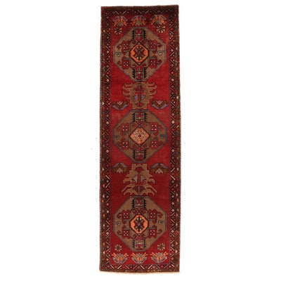 3'7 x 13' Hand-Knotted Northwest Persian Geometric Long Rug