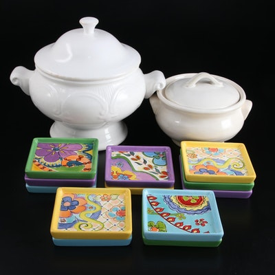 "Pfaltzgraff ""Merisella"" Ceramic Appetizer Plates with Other Ceramic Serveware"