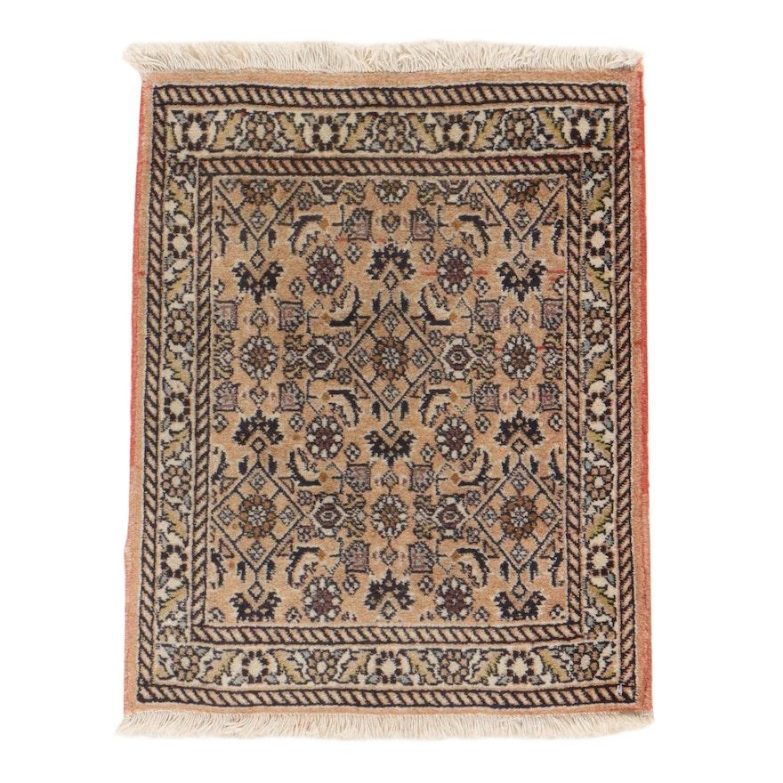 1'7 x 2'1 Hand-Knotted Persian Bijar Rug, 1970s