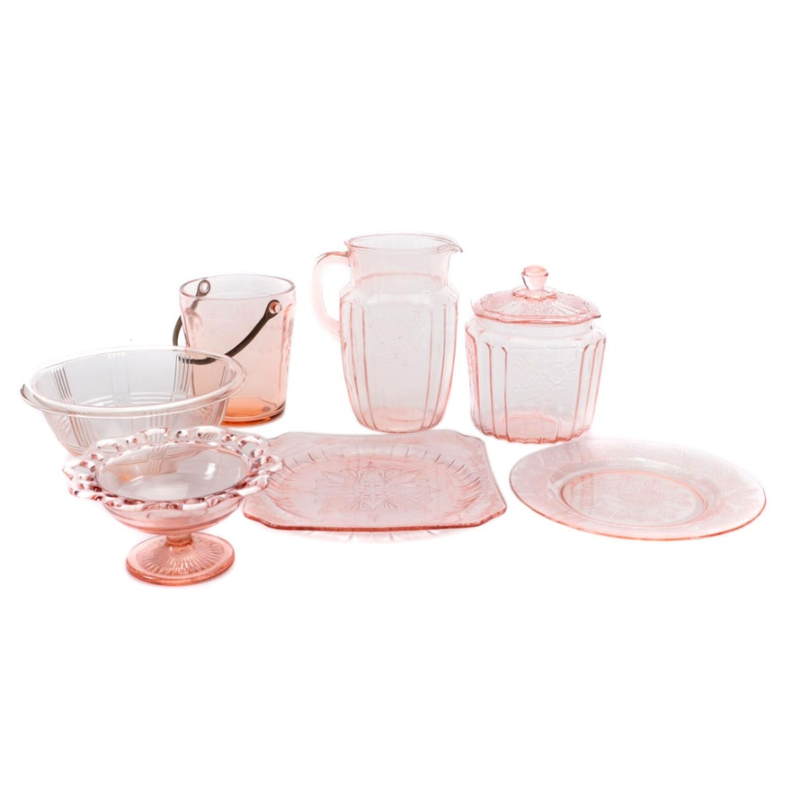 """Anchor Hocking """"Mayfair Pink"""" and Other Depression Glass Tableware"""