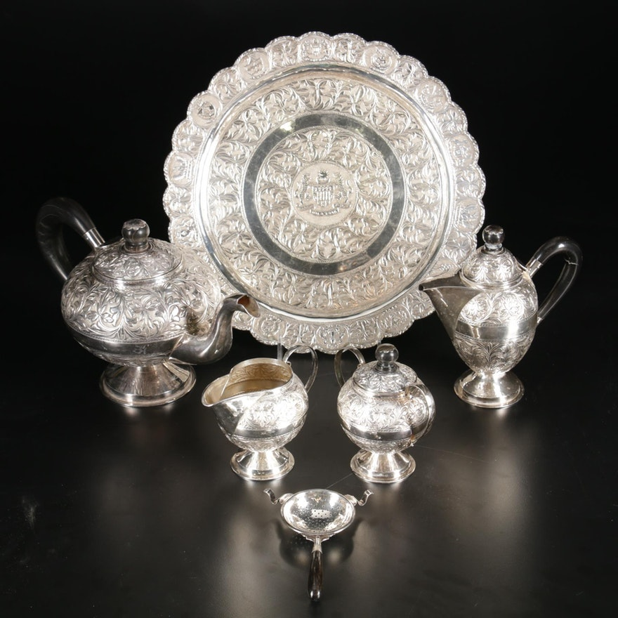 Malaysian Sterling Silver Tea and Coffee Service, Late 20th Century