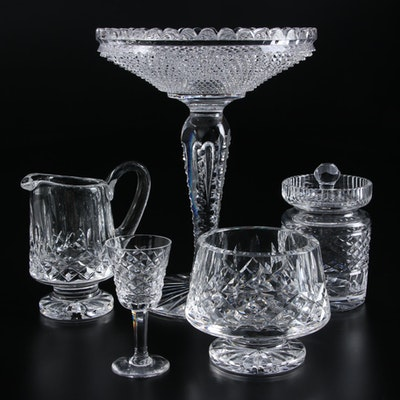 """Waterford """"Lismore"""" and """"Alana"""" Crystal Tableware with Crystal Compote"""