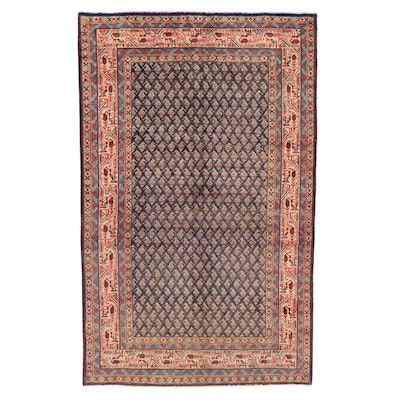 4'5 x 7' Hand-Knotted Persian Seraband Area Rug