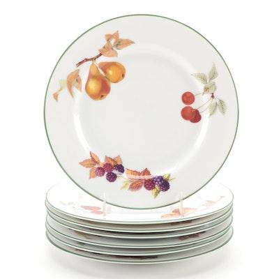 """Royal Worcester """"Evesham Vale"""" Porcelain Salad Plates"""