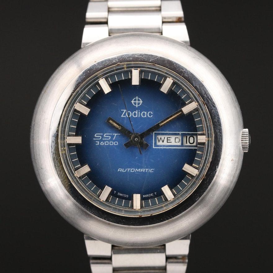 Vintage Zodiac SST3600 Stainless Steel Automatic Wristwatch