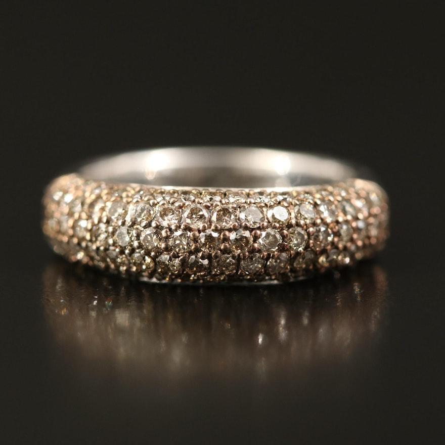 Sterling Silver 1.00 CTW Diamond Ring