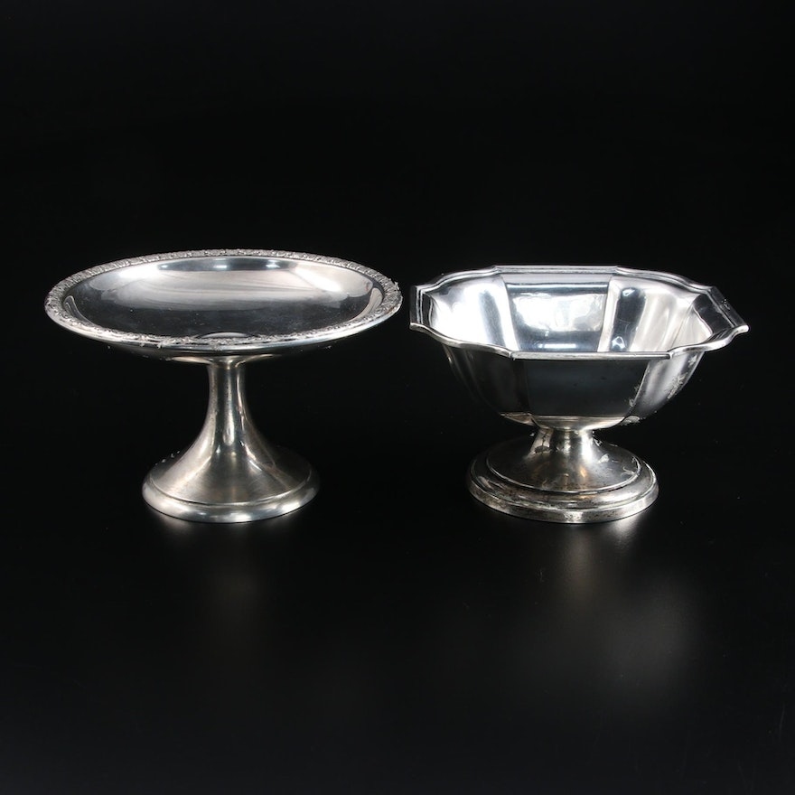 Wm. B. Durgin Co. Sterling Silver Footed Bowl and International Silver Compote