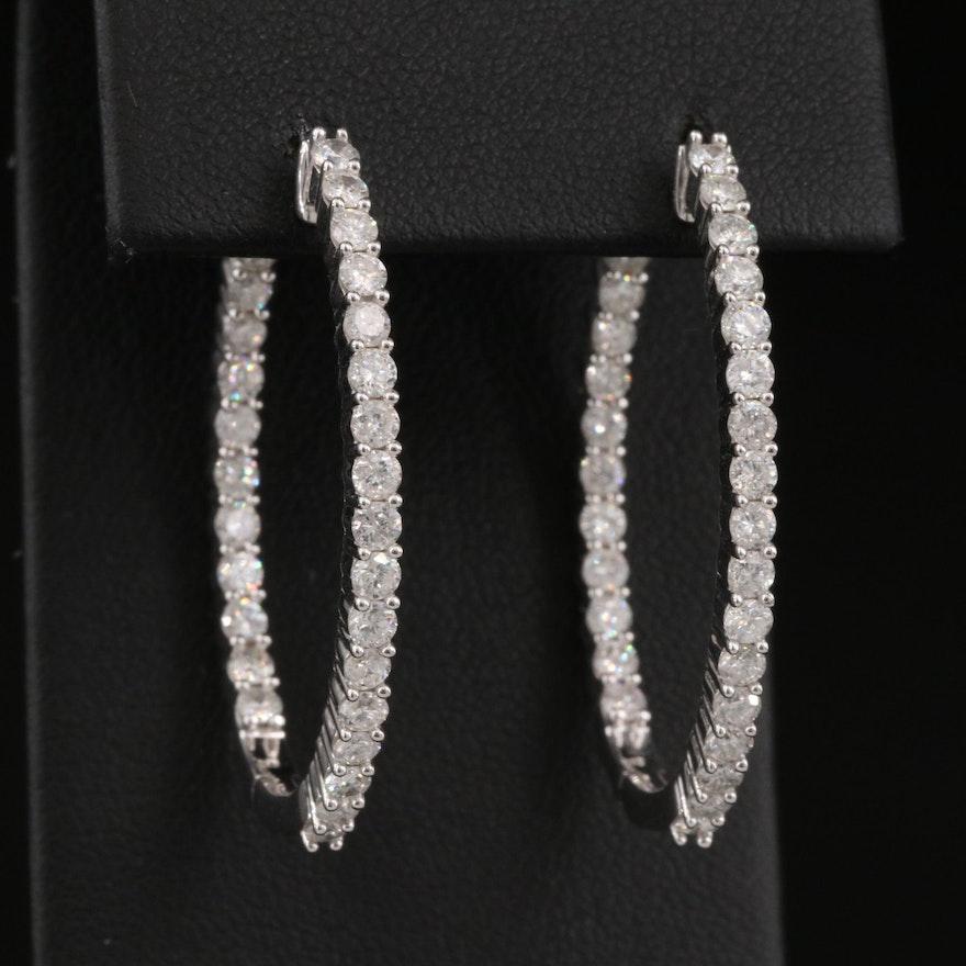 14K 2.69 CTW Diamond Inside-Out Hoop Earrings