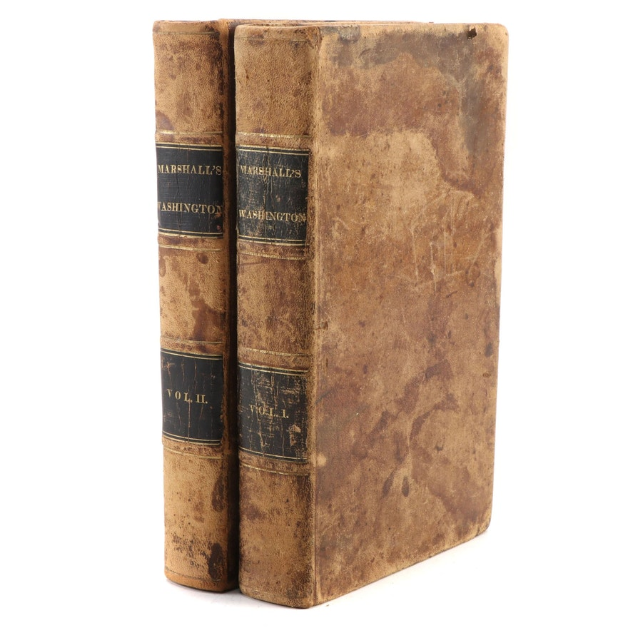 """The Life of George Washington"" Two-Volume Set by John Marshall, 1836"