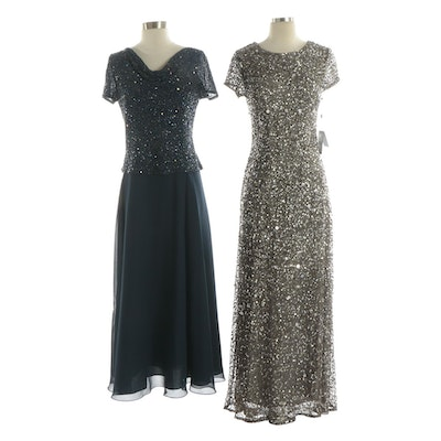Adrianna Papell and Jkara Embellished Evening Dresses