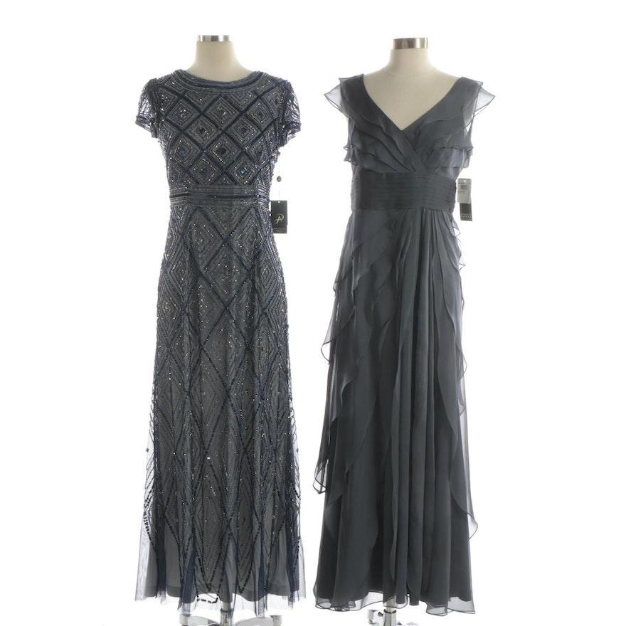 Adrianna Papell Embellished and Tiered Evening Dresses