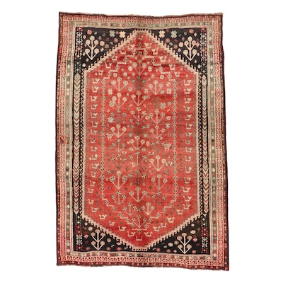 5'3 x 8' Hand-Knotted Persian Qashqai Area Rug