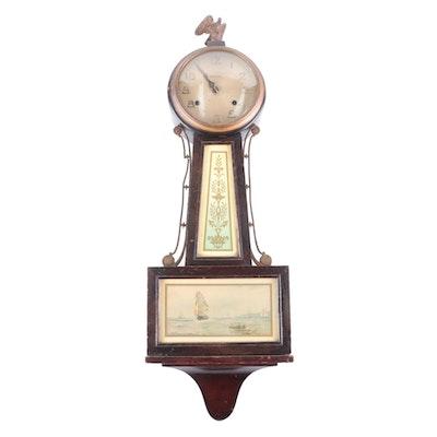 "New Haven Clock Co. ""Whitney"" Banjo Wall Clock, Early to Mid 20th Century"