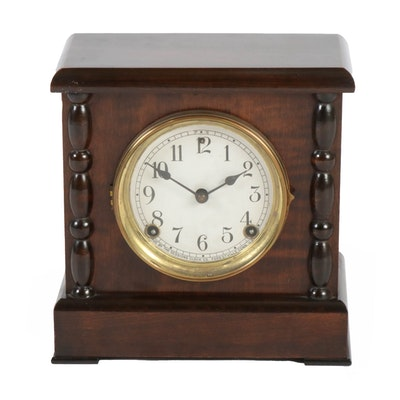 Sessions Clock Co. Eight Day Cathedral Gong Mantel Clock, Early 20th Century