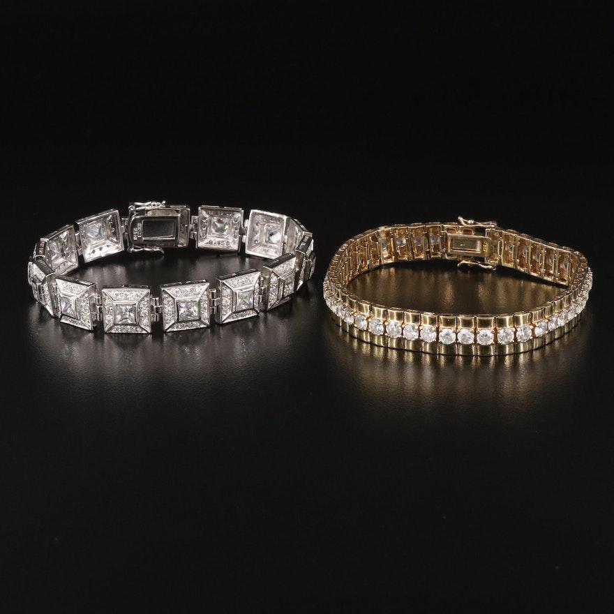 Sterling Silver Cubic Zirconia Bracelets