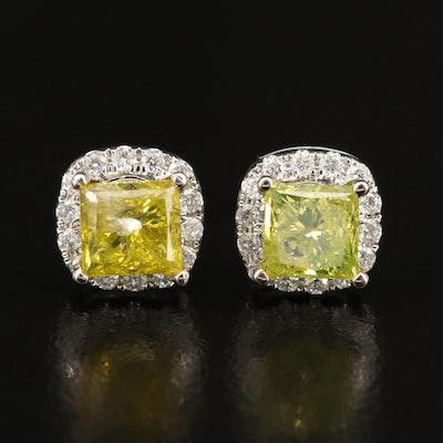 14K 3.21 CTW Diamond Stud Earrings