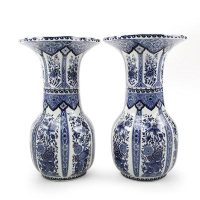 Delfts Royal Sphinx by Boch Handmade Ceramic Vases