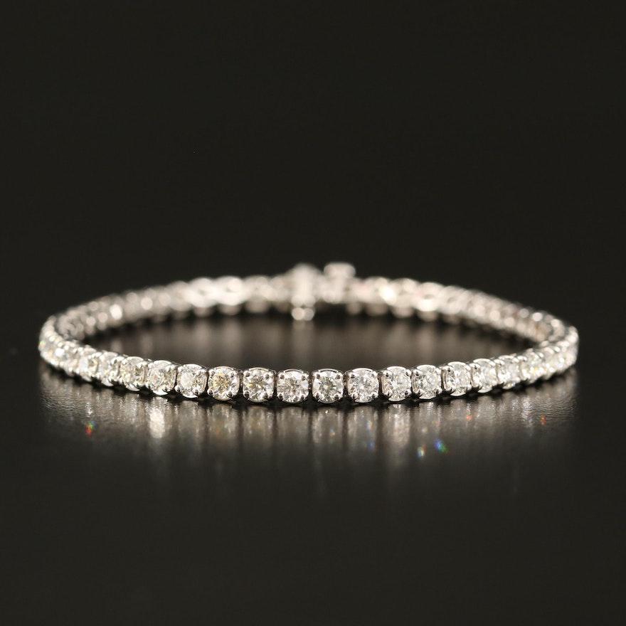 18K 5.46 CTW Diamond Line Bracelet