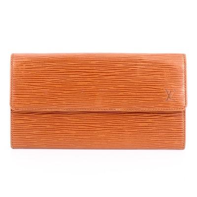 Louis Vuitton Pochette Porte-Monnaie Wallet in Cipango Gold Epi Leather