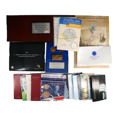 Mount Rushmore 75th Anniversary Coin Set with Assorted Coin Sets