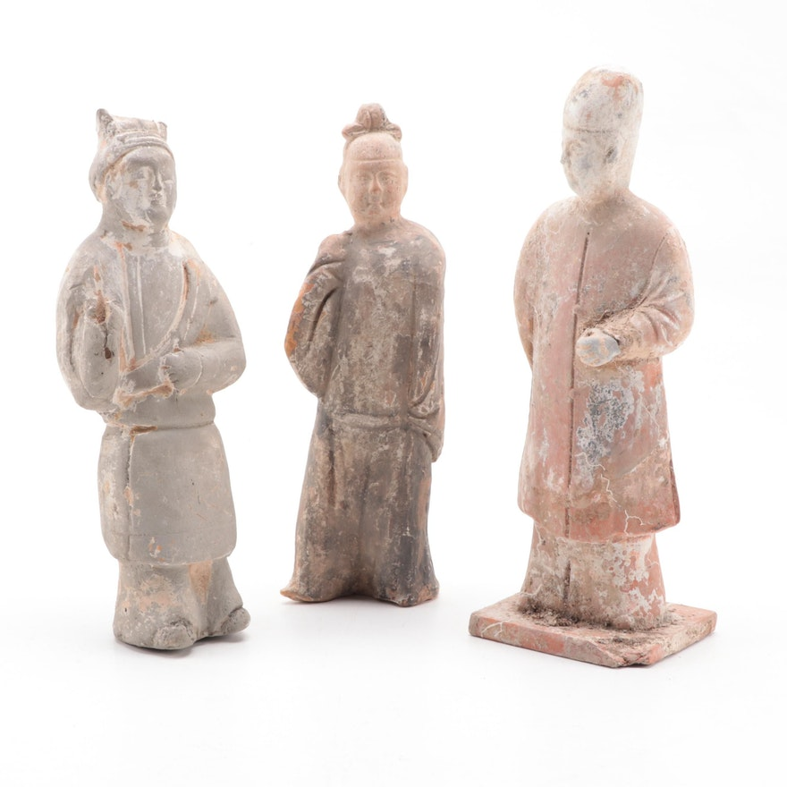 Chinese Han Style Pottery Figurines